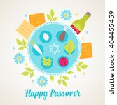 passover greeting card with... | Shutterstock .eps vector #404455459