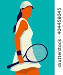 Tennis. Art Poster. Vector...