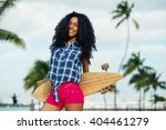 smiling young woman portrait... | Shutterstock . vector #404461279