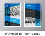blue annual report leaflet... | Shutterstock .eps vector #404463367