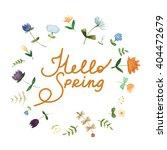 lovely spring concept card made ... | Shutterstock .eps vector #404472679