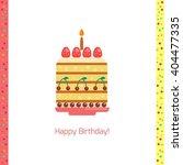 birthday cake flat icon...   Shutterstock .eps vector #404477335