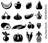 set of fruits and vegetables ... | Shutterstock . vector #404484541