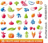 set of organic fruits and... | Shutterstock . vector #404484547