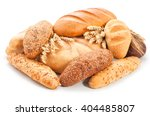 Assorted Breads Isolated On A...