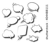 comic speech bubbles retro... | Shutterstock .eps vector #404488111