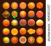 funny cartoon orange buttons...