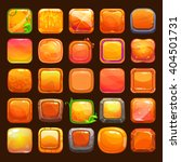 funny cartoon orange buttons...