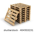Wooden Pallets. Isolated On...