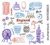 hand drawn doodle england... | Shutterstock .eps vector #404508835