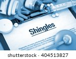 shingles  medical concept with... | Shutterstock . vector #404513827