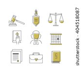 law and justice. line icons set.... | Shutterstock .eps vector #404518087