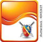 royal shield with crest and... | Shutterstock .eps vector #40452619