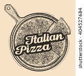 italian pizza. hand drawn food. ... | Shutterstock .eps vector #404527684