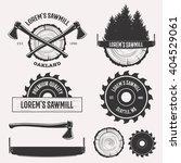 vintage sawmill logo set labels ... | Shutterstock . vector #404529061