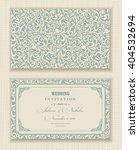 wedding invitation cards ... | Shutterstock .eps vector #404532694