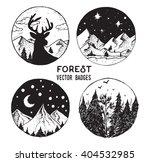 vector set of round forest... | Shutterstock .eps vector #404532985