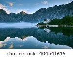 lonely house with water... | Shutterstock . vector #404541619