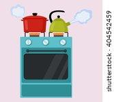 kitchen stove flat style... | Shutterstock .eps vector #404542459