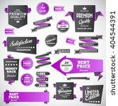 vintage labels set   origami... | Shutterstock .eps vector #404544391