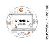 driving school logo template... | Shutterstock .eps vector #404546401