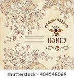 honey label or background for... | Shutterstock .eps vector #404548069