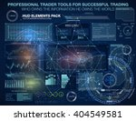 set graphs and charts.... | Shutterstock .eps vector #404549581