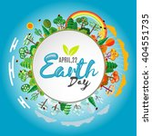 earth day. eco friendly ecology ... | Shutterstock .eps vector #404551735