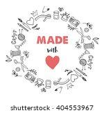 handmade  crafts workshop  art... | Shutterstock .eps vector #404553967