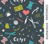 handmade  crafts patterns and... | Shutterstock .eps vector #404554021