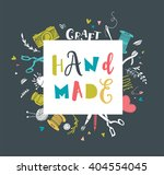 handmade  crafts workshop  art... | Shutterstock .eps vector #404554045