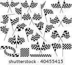 race flag   vinyl ready | Shutterstock .eps vector #40455415