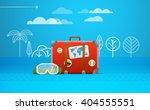 travel bag vector illustration. ... | Shutterstock .eps vector #404555551