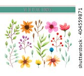 floral watercolor collection... | Shutterstock .eps vector #404559871