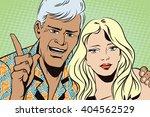 people in retro style pop art... | Shutterstock .eps vector #404562529
