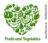 organic food concept. heart... | Shutterstock . vector #404563315