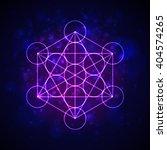 metatrons cube   flower of life.... | Shutterstock .eps vector #404574265