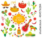 collection of cinco de mayo... | Shutterstock .eps vector #404576284