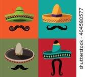 cinco de mayo sombrero and... | Shutterstock .eps vector #404580577
