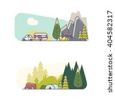 vector set of small landscapes...   Shutterstock .eps vector #404582317