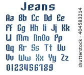 jeans alphabet letters number ... | Shutterstock . vector #404583214