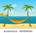 hammock with palm trees on... | Shutterstock .eps vector #404584564