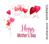 mother's day card. place for... | Shutterstock .eps vector #404585851