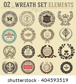 laurel wreath set. design... | Shutterstock .eps vector #404593519