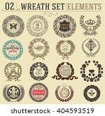 laurel wreath set. design... | Shutterstock .eps vector #404593519