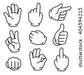 cartoon hands gesture set ... | Shutterstock .eps vector #404594215