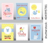 happy birthday  baby shower for ... | Shutterstock .eps vector #404595781