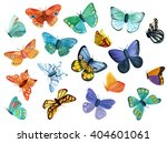 a collection of watercolor... | Shutterstock . vector #404601061