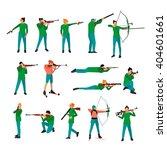 vector set of sport shooting... | Shutterstock .eps vector #404601661