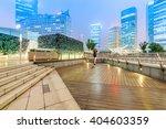 shanghai commercial center at...   Shutterstock . vector #404603359